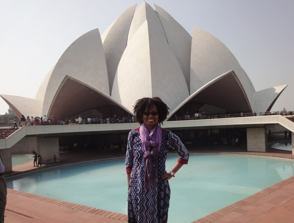 Pam at the Lotus Temple